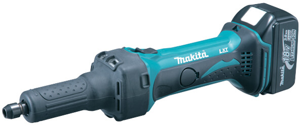 Makita BDG800 Straight Grinder 18V cpl.w.2pcs Battery/Charger 220V