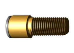 Threaded brazing pins