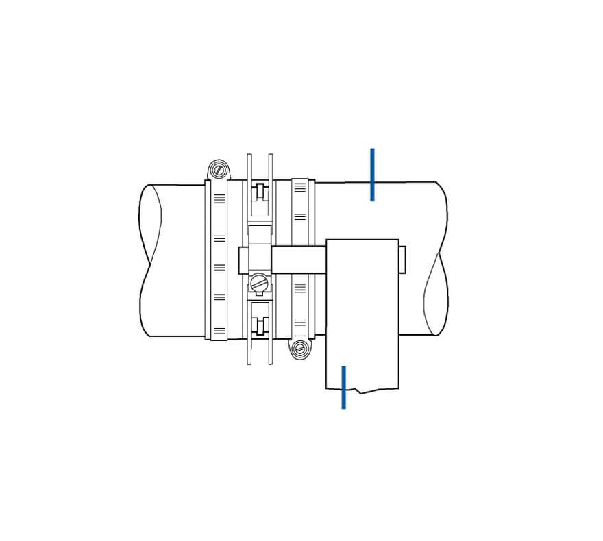 Propeller shaft slip ring assembly