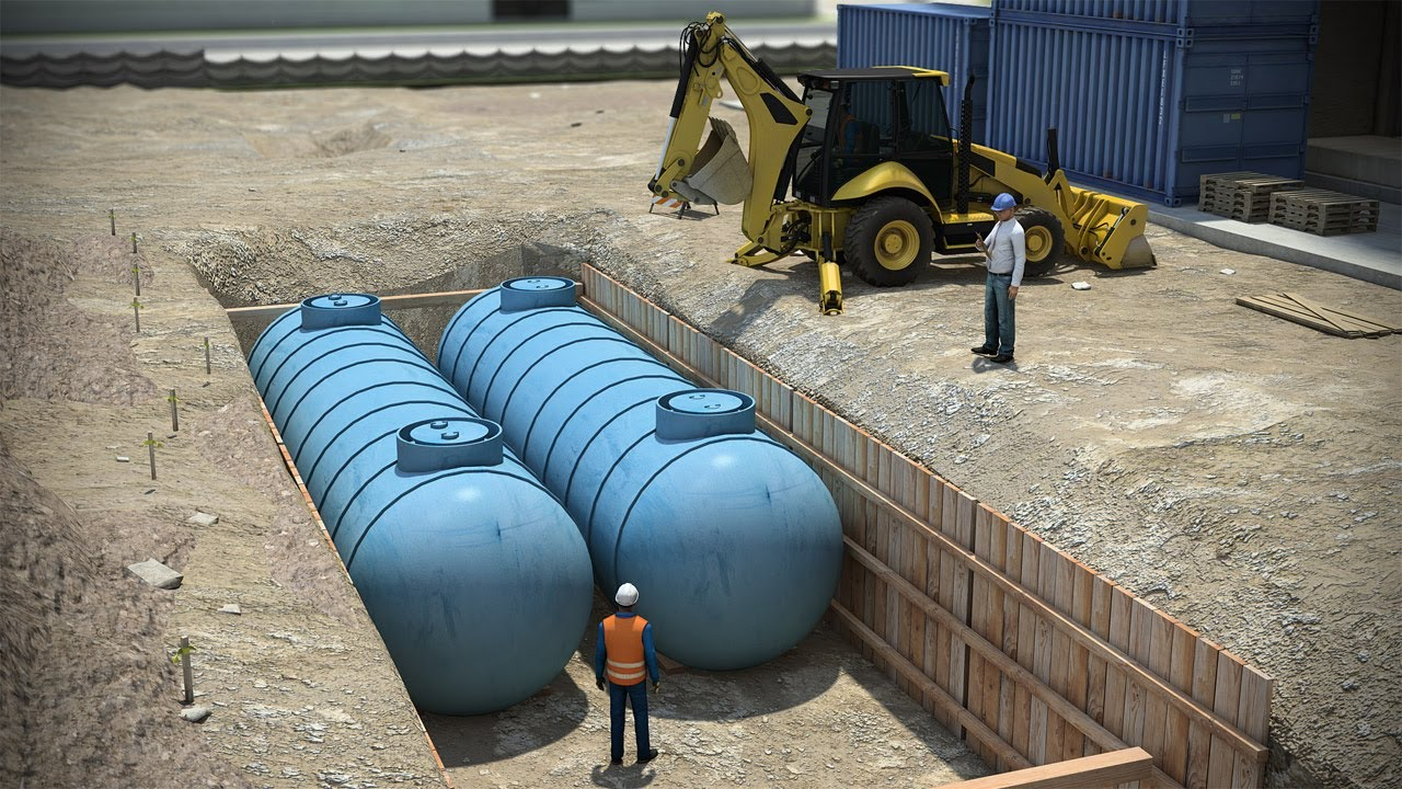 storage tank below ground